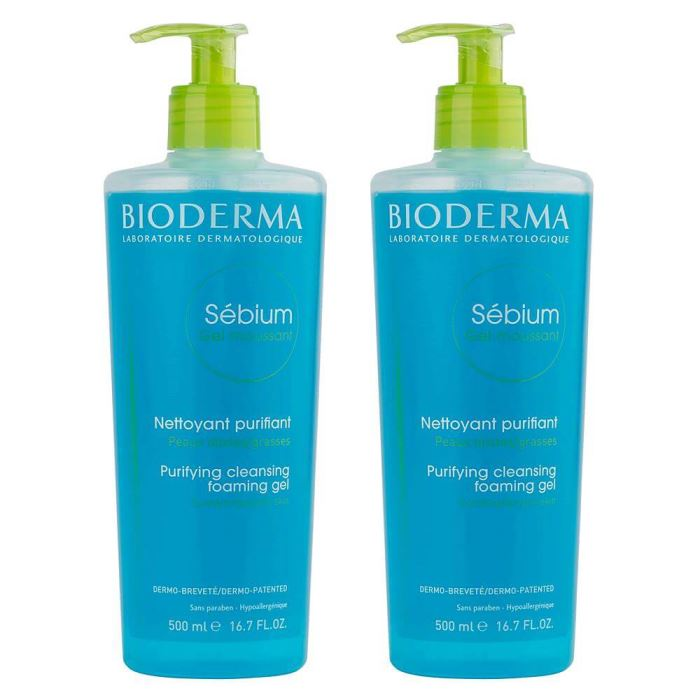 Bioderma Sebium Foaming Gel 500ml İkiz Set