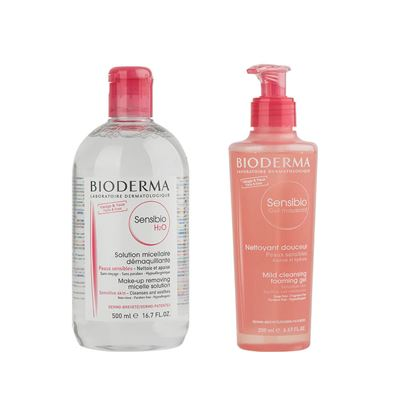 Bioderma Sensibio H2O 500ml + Sensibio Mild Cleansing Foaming Gel 200ml