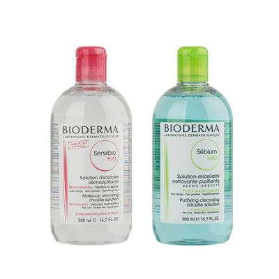 Bioderma Sensibio H2O 500ml + Sebium H2O 500ml
