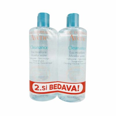 Avene Cleanance Eau Micellar Water 2x400ml İkiz Set