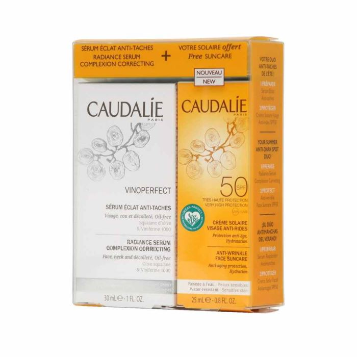 Caudalie Vinoperfect Serum 30ml + Face Suncare 25m