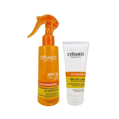 Cosmed Sun Essential SPF30 Spray Lotion 200ml Set