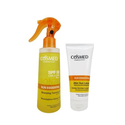 Cosmed Sun Essential SPF50 Bronzing Tanning Oil 200ml Set