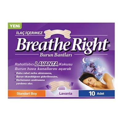 Breathe Right Burun Bantları Standart Boy Lavanta 10 Adet