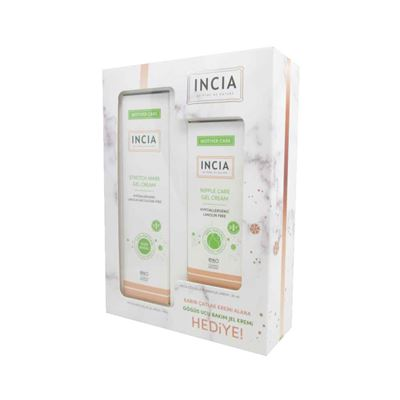 Incia Stretch Mark Gel Cream 75ml + Nipple Care Gel Cream 30ml Set
