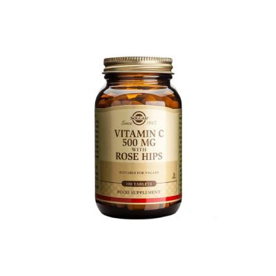 Solgar Vitamin C 500mg With Rose Hips 100 Tablet