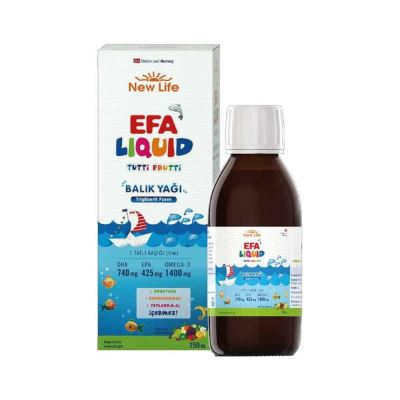 New Life Efa Liquid Tutti Frutti Fish Oil 150ml