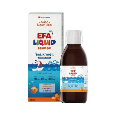 New Life Efa Liquid Orange Fish Oil 150ml