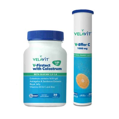 Velavit V-Firstect With Colostrum 30 Kapsül V-Effer C Set