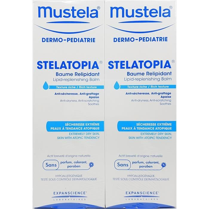 Mustela Stelatopia Lipid Replenishing Balm 2x200ml