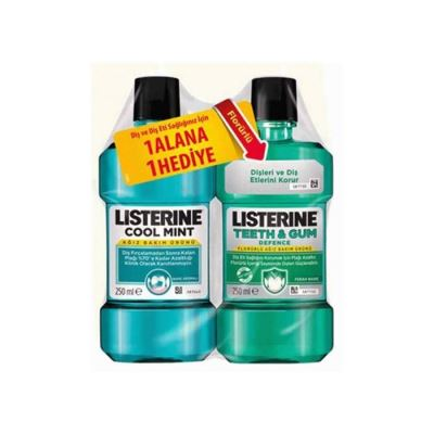 Listerine Cool Mint 250ml Teeth and Gum 250ml Hediyeli